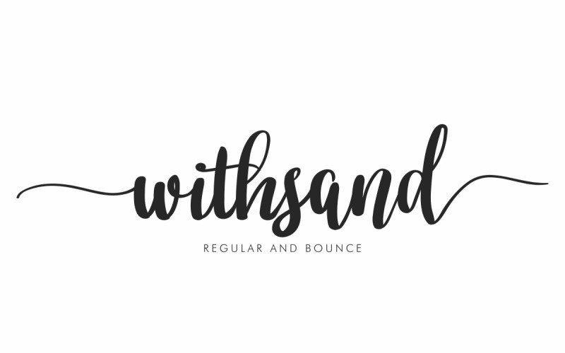 Withsand Calligraphy Font