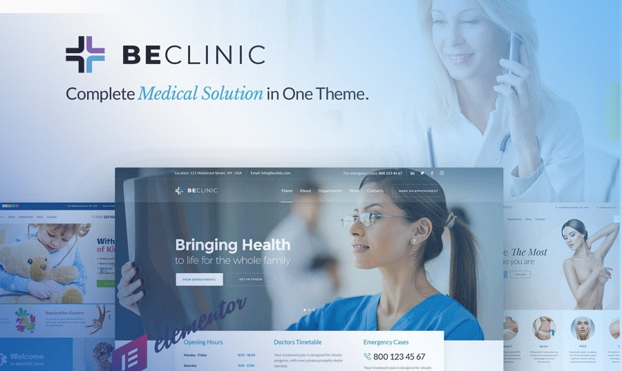 BeClinic – All-in-One Elementor-based Medical WordPress Theme