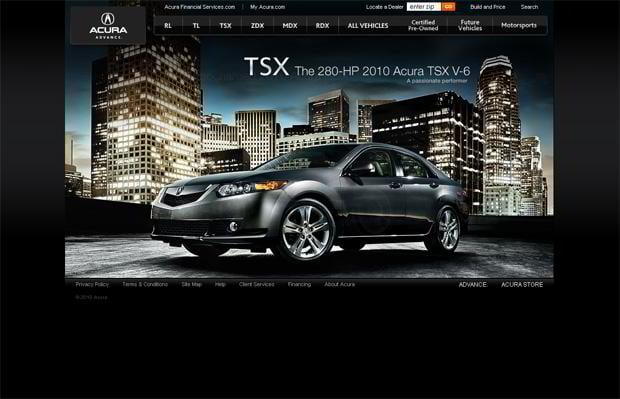 101 spectacular cars website designs monsterpost - Site internet garage automobile ...