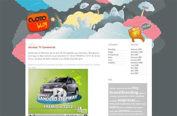 video blog wordpress design - Cuoma.com