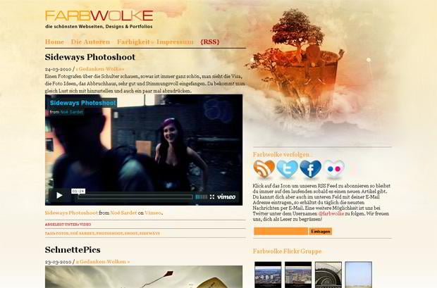 video blog design wordpress - Farbwolke.de