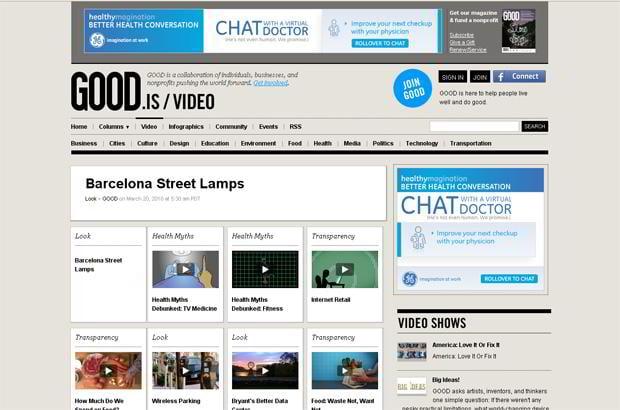 wordpress video design - Good.is