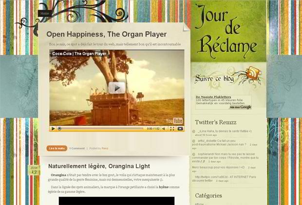 video wordpress design - Jour-de-reclame.mister-r.fr