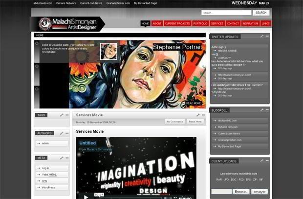 video blog design wordpress - Malachisimonyan.com