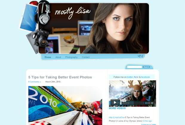 video wordpress design - Mostlylisa.com
