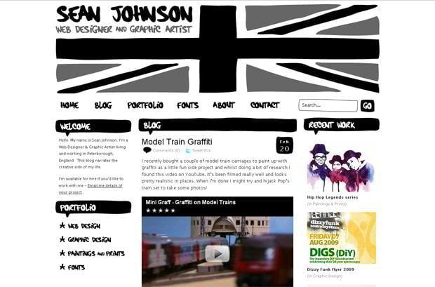 video blog wordpress design - Seanjohnson.net