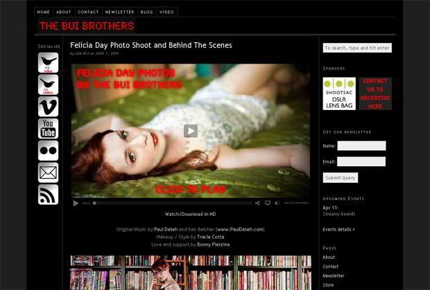 wordpress design video blog - Thebuibrothers.com