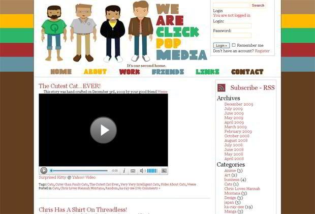 wordpress video blog design - Weare.clickpopmedia.com