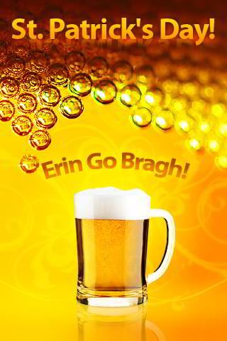 free st. patrick iphone wallpaper - beer