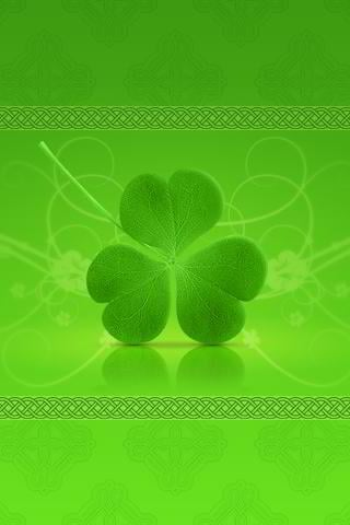 free st. patrick iphone wallpaper - clover