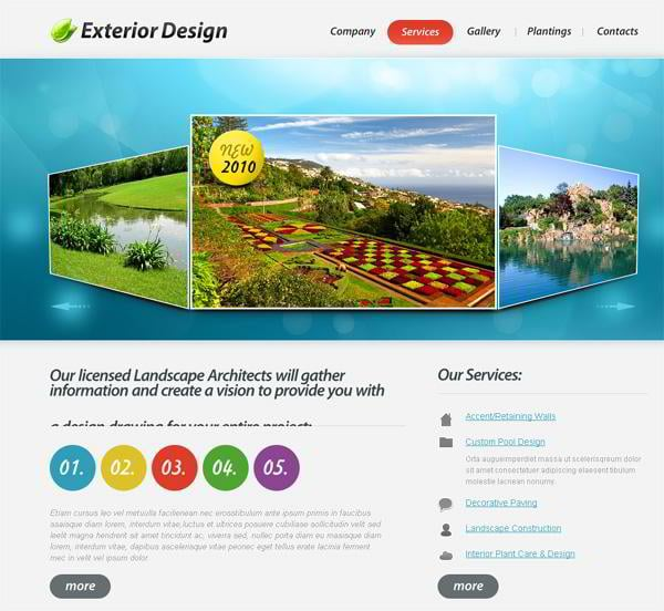 Jquery templates launched 50 best examples are right for Exterior design templates