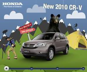 flash banner sample – Honda CRV 2010