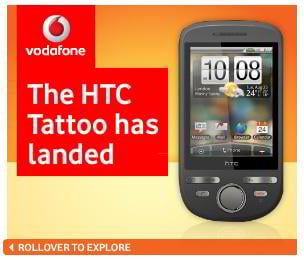 flash banner design – Vodafone Landed