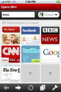 iphone browsers - opera mini