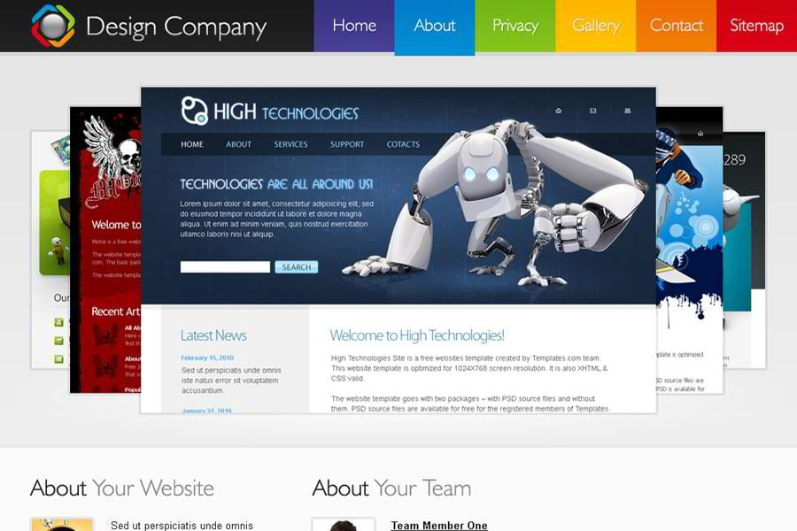 Free Html5 Template For Design Company Website Monsterpost