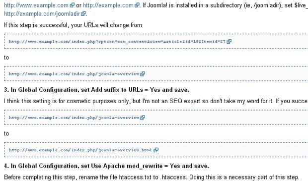 Joomla 1.5 SEF URLs
