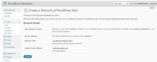 wp 3.0 tutorial creating WMU network