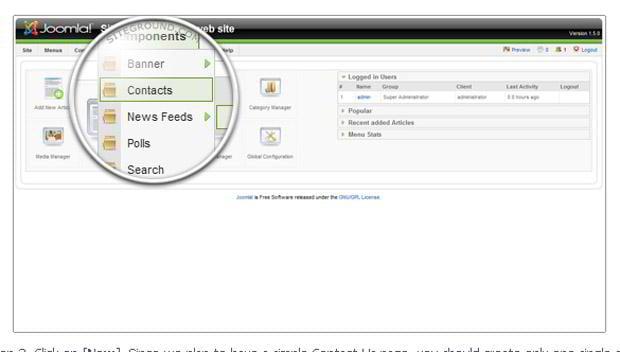 creating contact-us page joomla 1.5