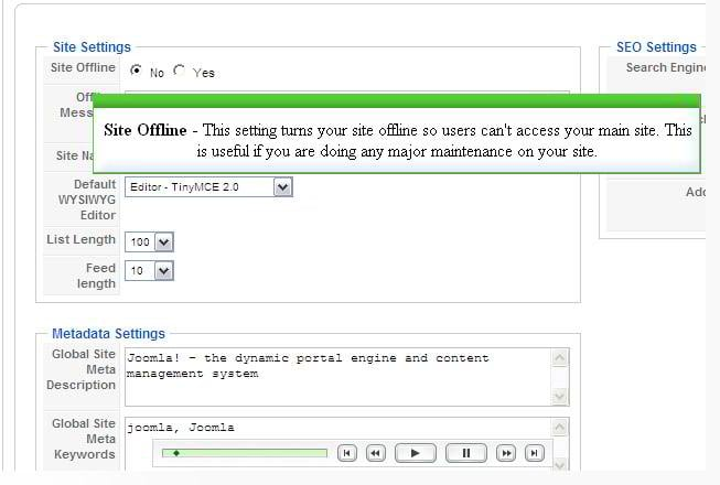 Manage the Global Configuration