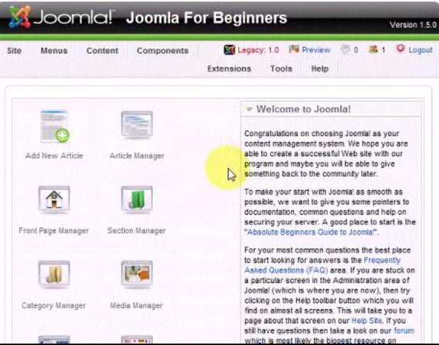 Changing The Frontpage Layout in Joomla! 1.5