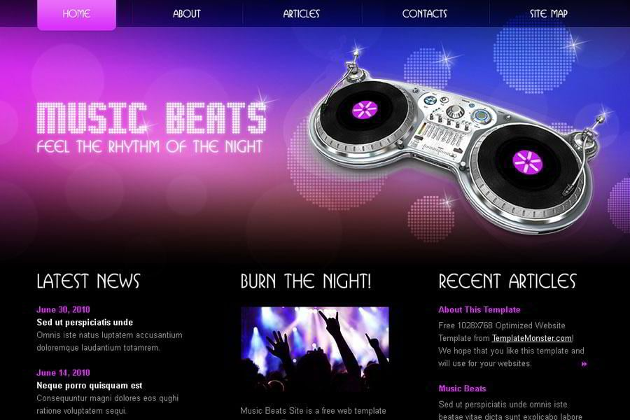 Rock Your Music Project With Free Html5 Website Template Monsterpost