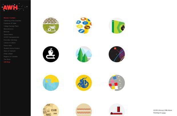 circular elements web design