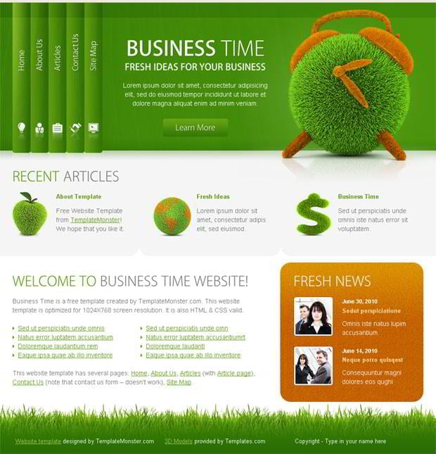 Free Business Website Template - Successful Solution for Your ...