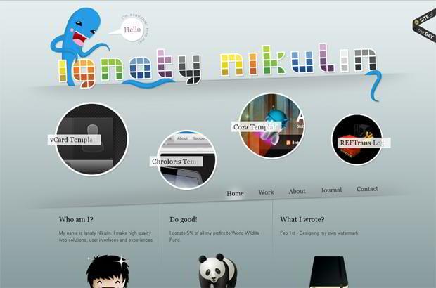 circular elements web designs