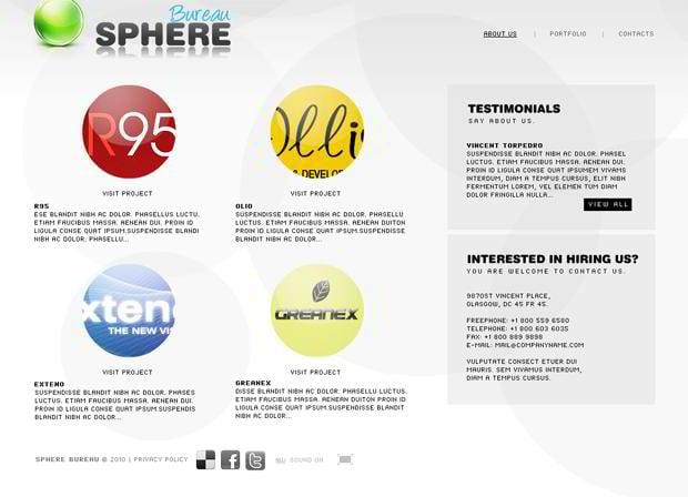 round website design