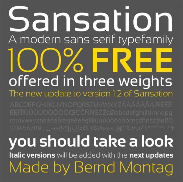 free fonts type