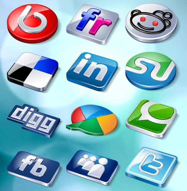 free social networking icons set
