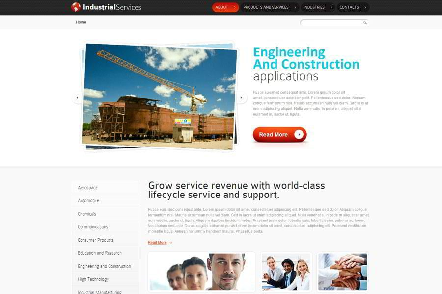 Free html5 website template for industrial business monsterpost free html5 website template for industrial business accmission Gallery