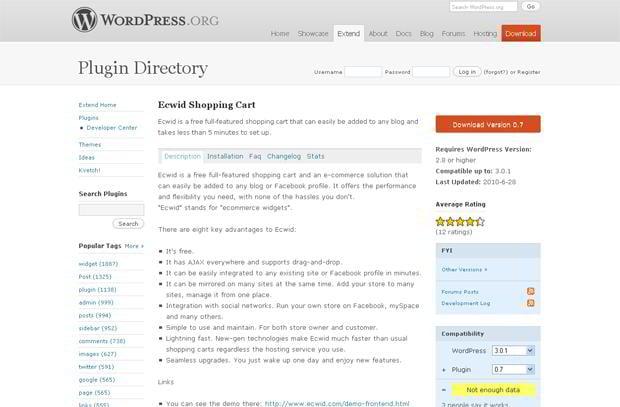 wordpress shopping cart plugins