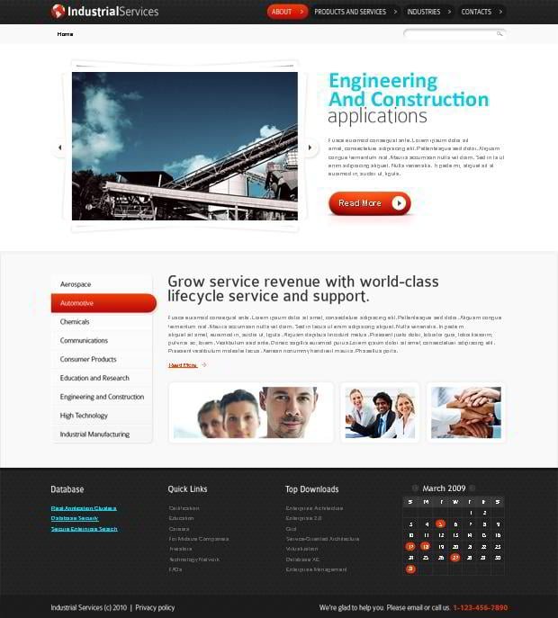 Free HTML5 Website Template for Industrial Business - MonsterPost