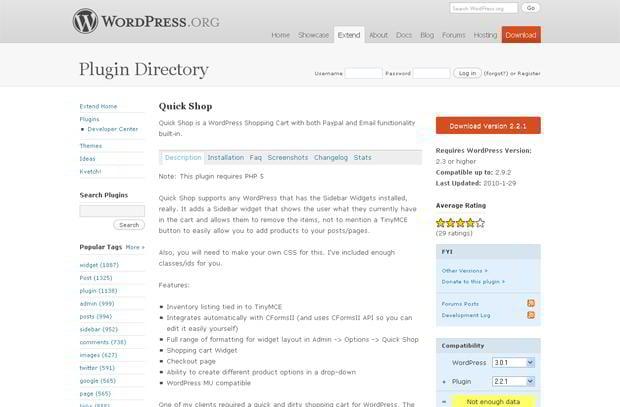 wordpress ecommerce applications