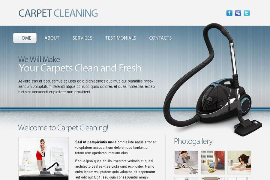 Free Maintenance and Cleaning HTML5 Website Template - MonsterPost