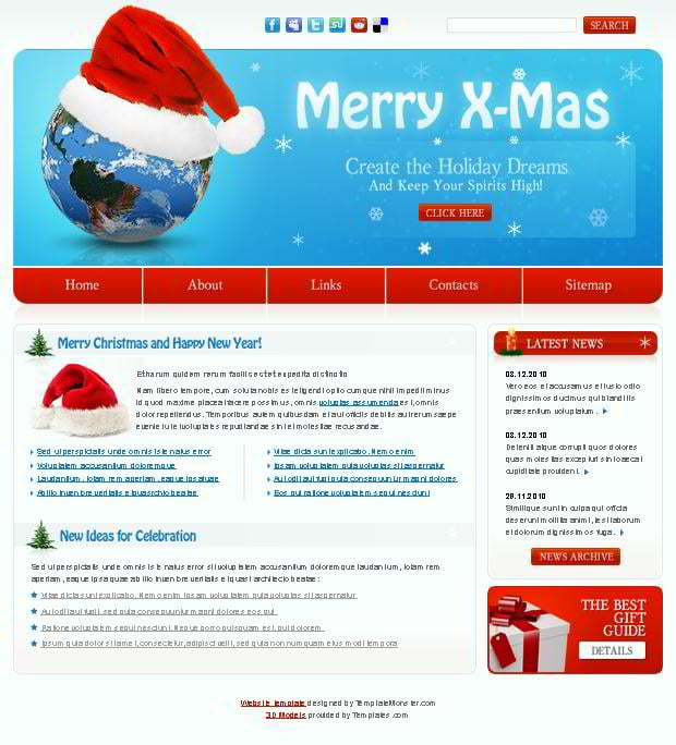 Free Christmas Website Template for the Festive Holiday! - MonsterPost