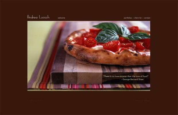 food photography web designs
