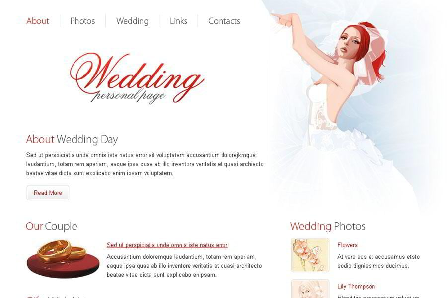 Free Wedding Website Template - MonsterPost