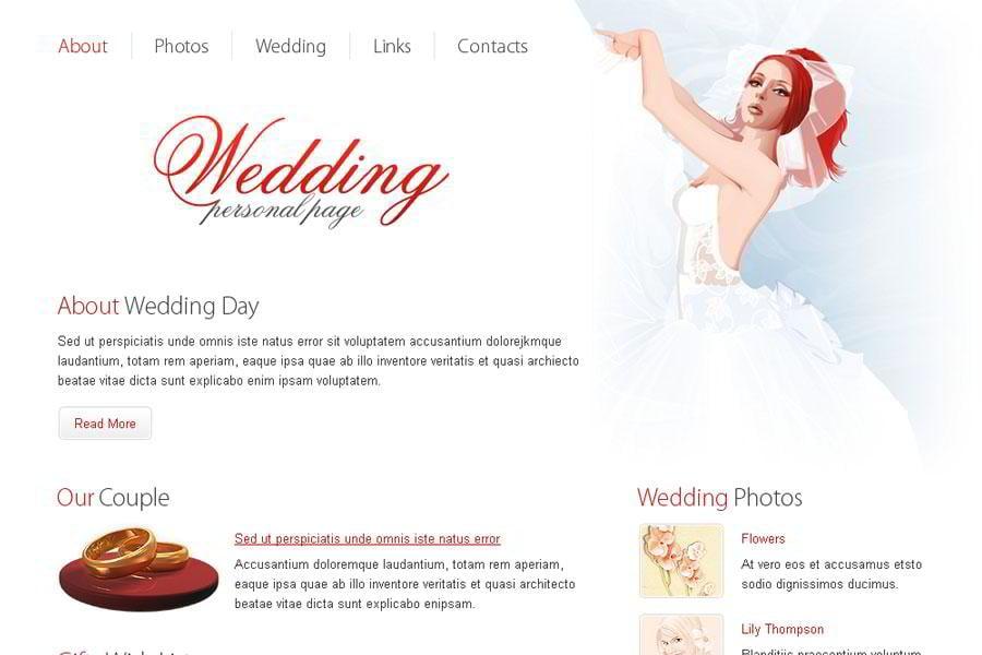 Free Wedding Website Template MonsterPost - Free wedding website templates