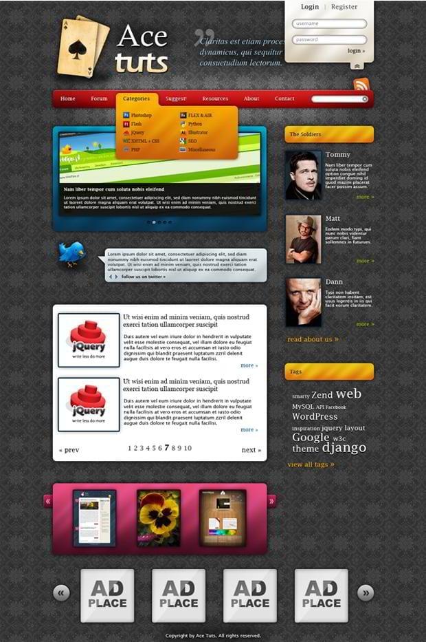 Site Design and Layout « WordPress Codex
