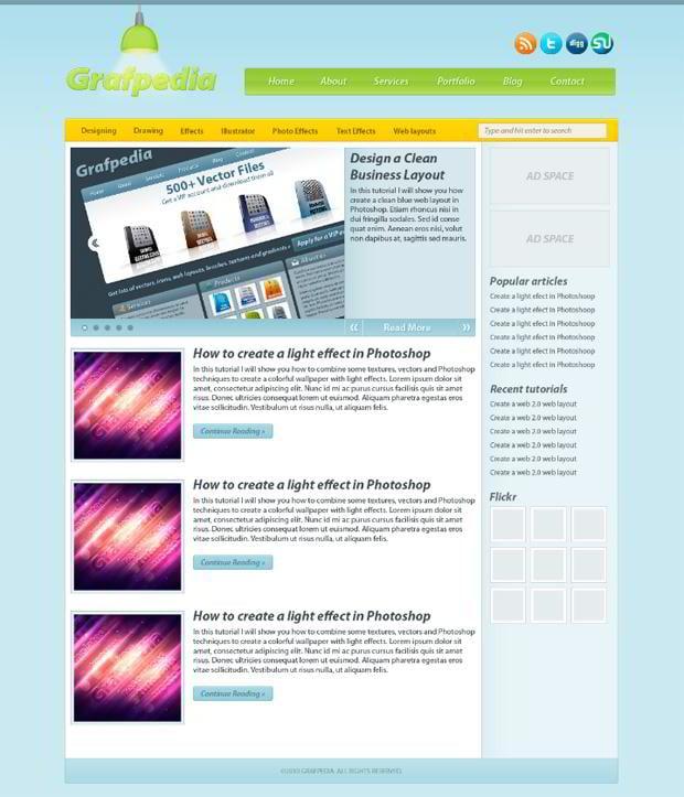 Modern Design Blog 30 blog design photoshop tutorials - monsterpost