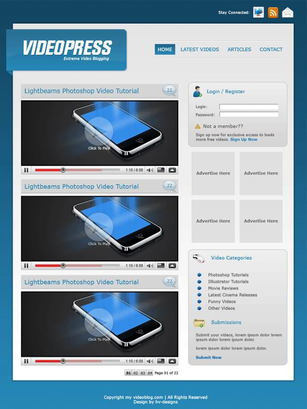 how to create a video view in a website