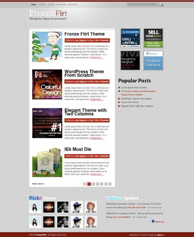 30 Blog Design Photoshop Tutorials - MonsterPost