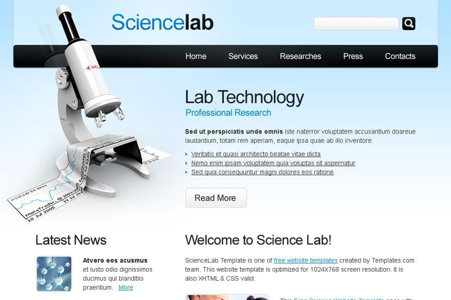 free science website template monsterpost