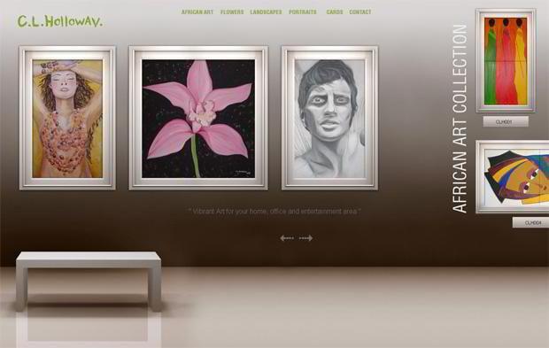 horizontal websites showcase