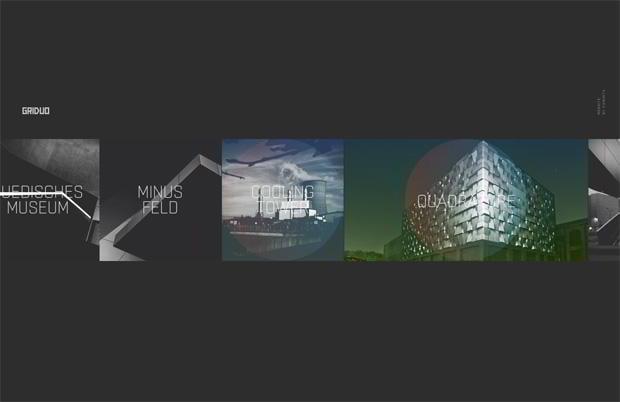 horizontal web designs