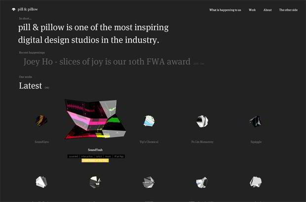 scrolling flash website design