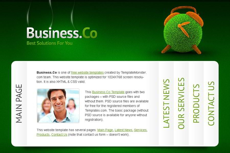 Free Business Website Template with Accordion Navigation - MonsterPost