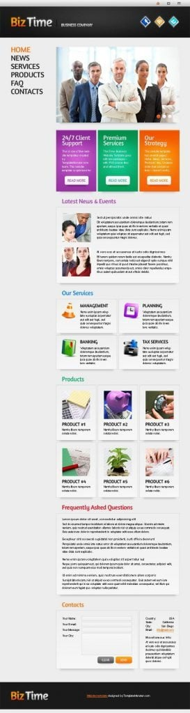 website template single page layout monsterpost